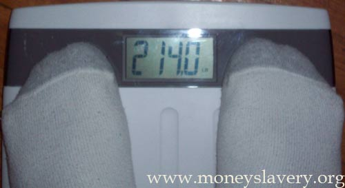 10th Week - 214.0 pounds