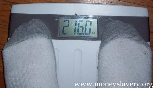 9th Week - 216.0 pounds