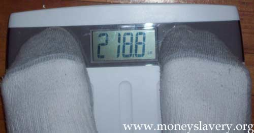 8th Week - 218.8 pounds