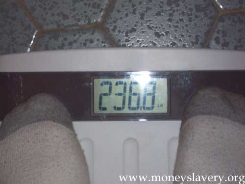 Initial weight was 236.8 pounds